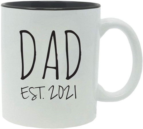 Dad Established Est. 2021 11-Ounce Ceramic Coffee Mug with Gift Box
