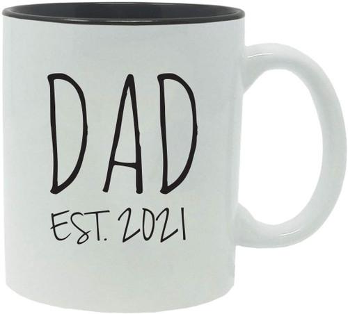 Dad Established Est. 2021 11-Ounce Ceramic Coffee Mug with Gift Box