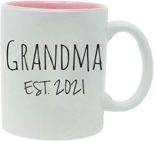 Grandma Established Est. 2021 11-Ounce Ceramic Coffee Mug with Gift Box