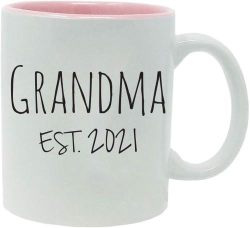 Grandma Established Est. 2021 11-Ounce Ceramic Coffee Mug with Gift Box