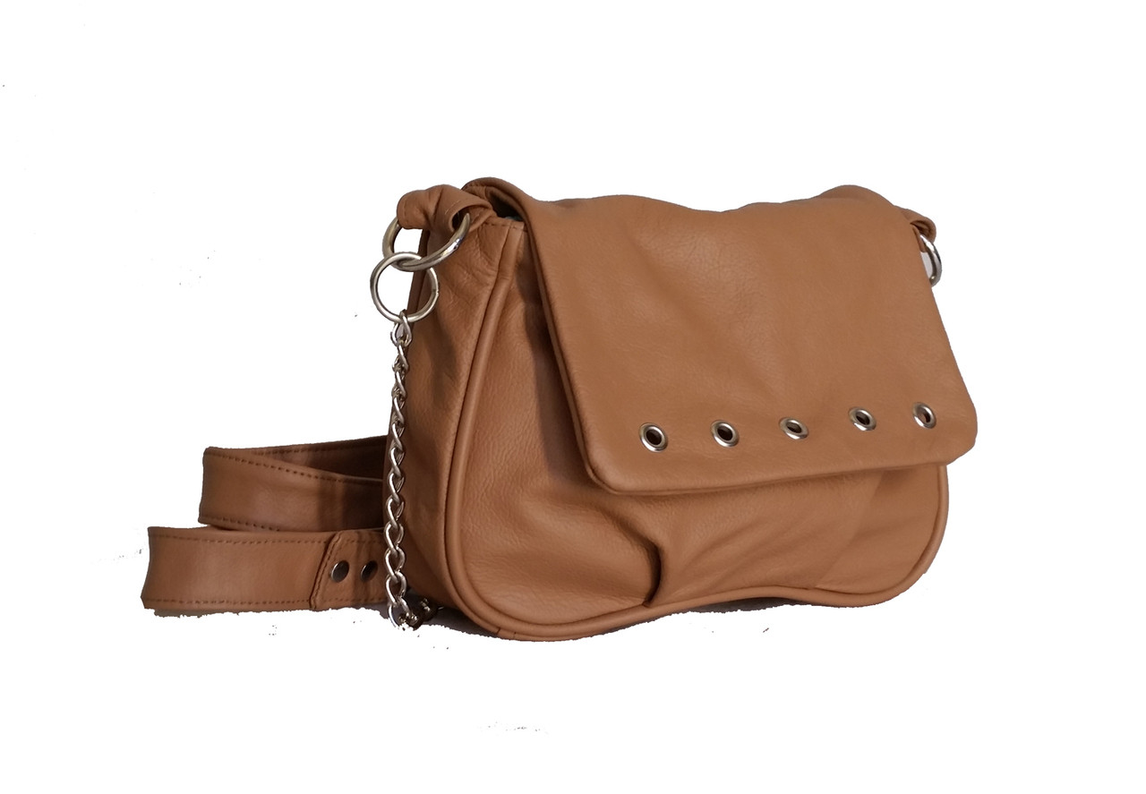 72a7f194f86b Camel Leather Crossbody Bag - small messenger shoulder purse - handmade bags  sury - Fgalaze Genuine Leather Bags   Accessories