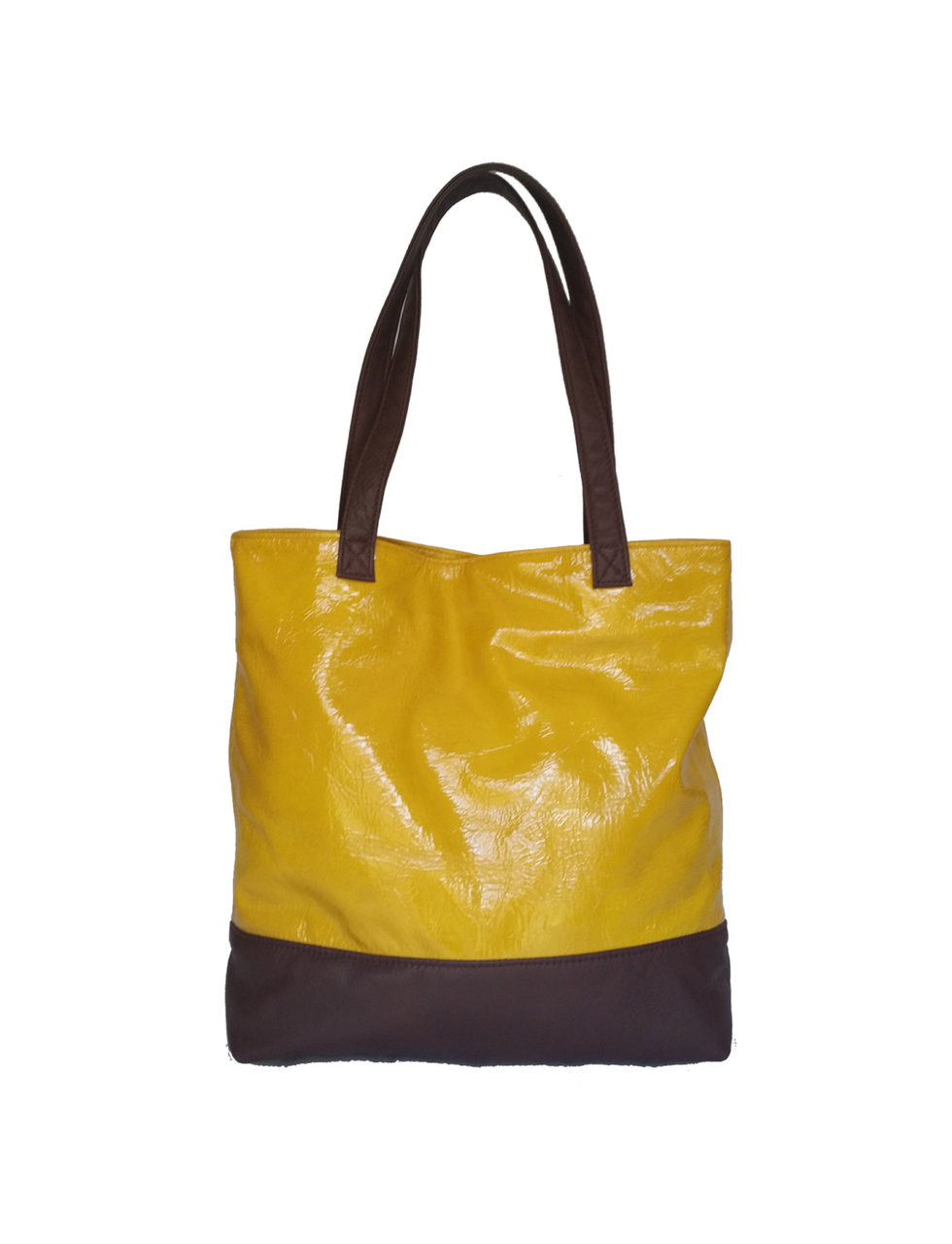 8ec0ff45b7c79 Women's Leather Tote Bag - Carryall Shoulder Purse - Two Tone Handmade Totes  yosy
