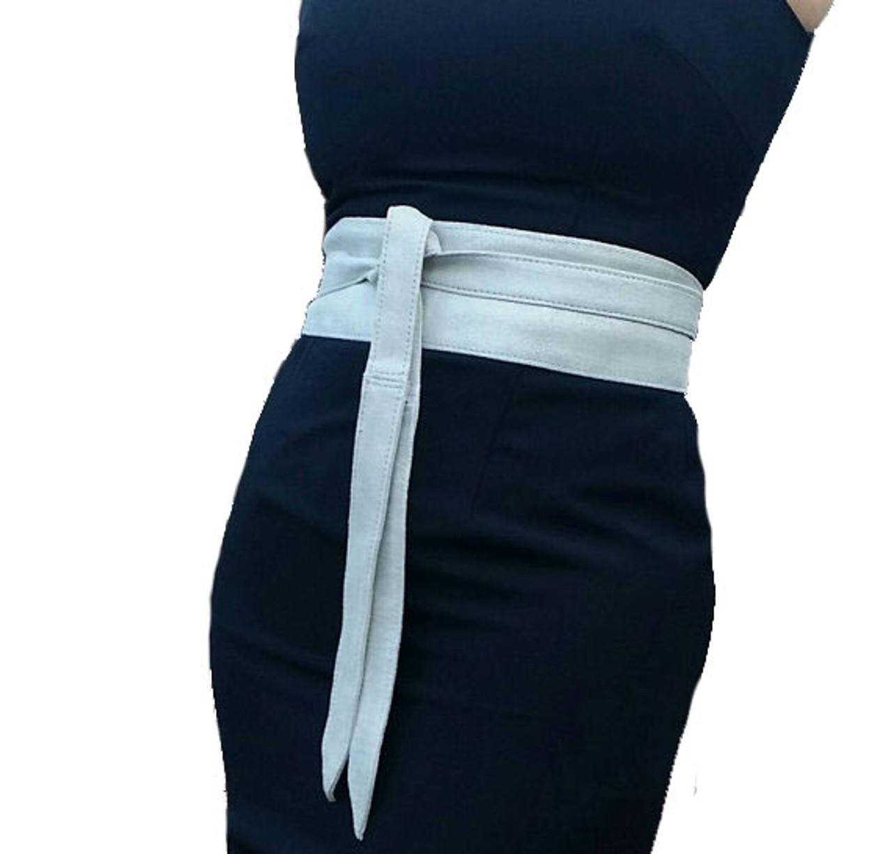 ab3c9e4bc Suede Leather Obi Belt - Wide Wrap Belts - Women s tie belts - Wedding  Wraparound Unique Belts - Fgalaze Genuine Leather Bags   Accessories