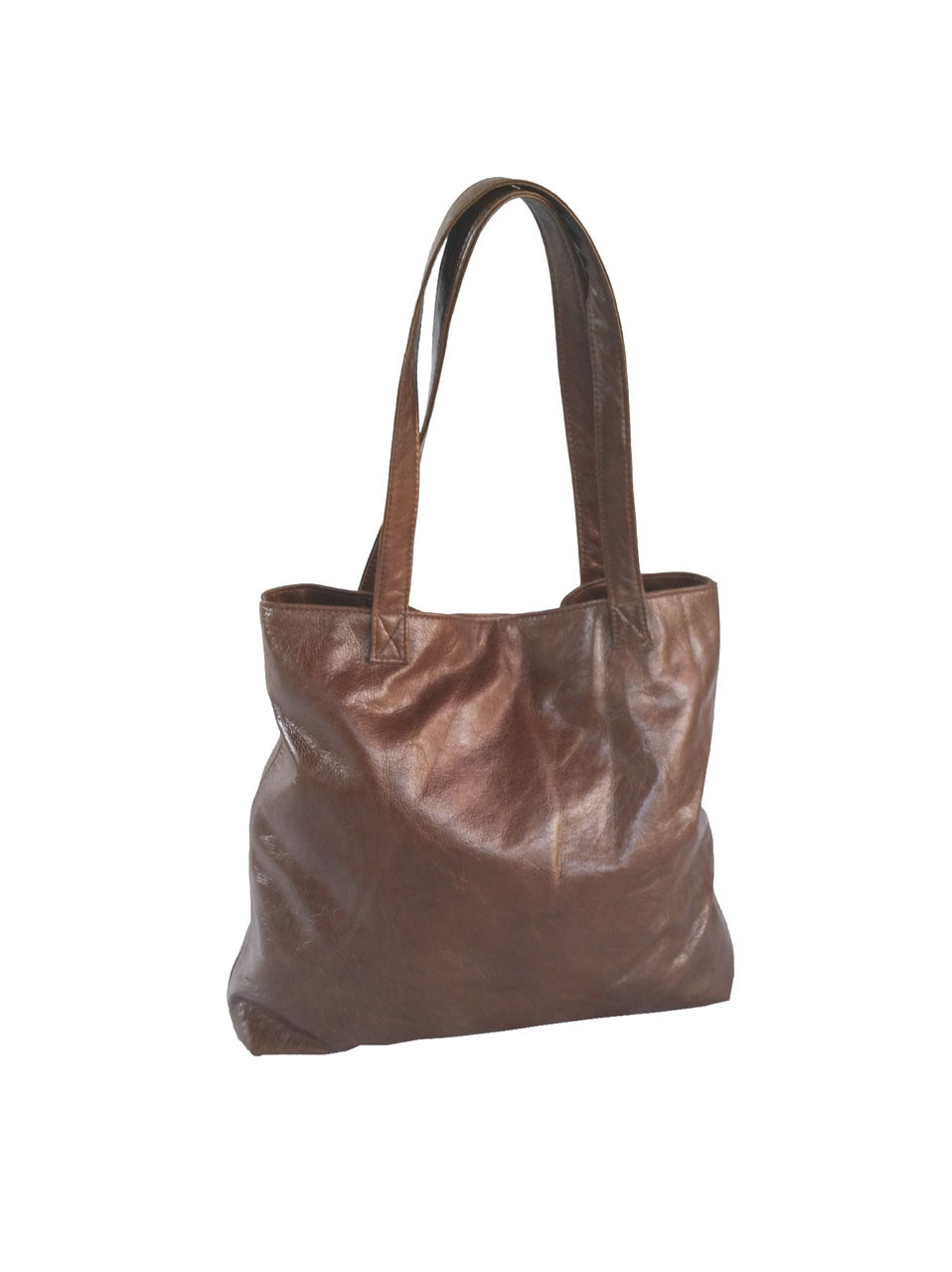 Brown Leather Tote Purse Bag - Casual Shoulder Tote - Women s Purses -  Lightweight Handmade Totes yosy - Fgalaze Genuine Leather Bags   Accessories 234e7bba84e54