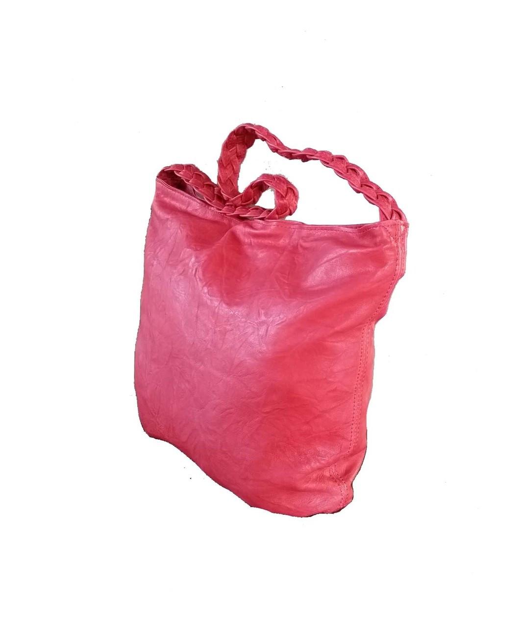 Boho Chic Red Leather Ho bo Bag - Braided Handle Purse - Bohemian Shoulder  Handbag claudia - Fgalaze Genuine Leather Bags   Accessories 487053d830394