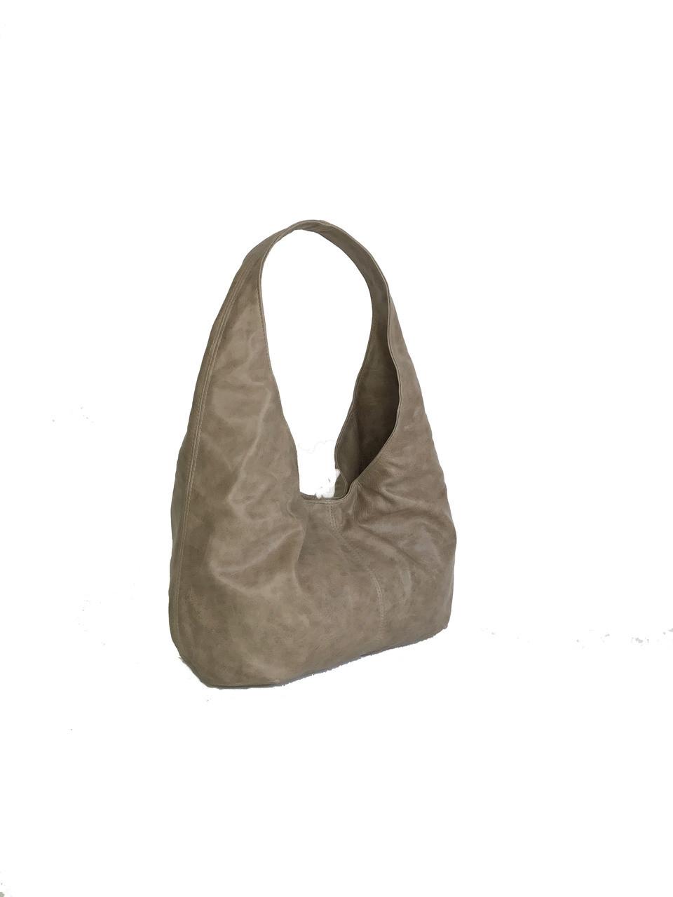 Distressed Leather Hobo Bag f05781599583e