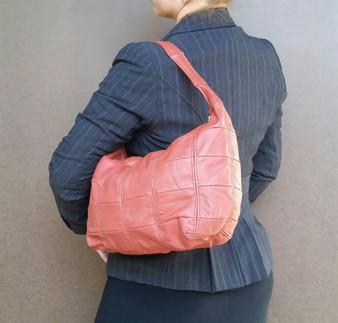 Leather Hobo Bag, Casual Everyday Shoulder Handbag, Rosses