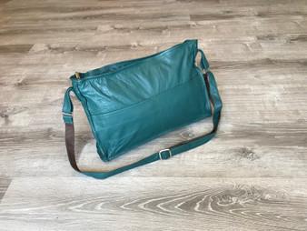 Green Leather Bag, Fashion Crossbody Shoulder Bag, Carmen