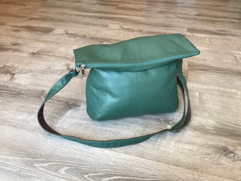 Foldover Leather Crossbody Bag, Everyday Leather Purse, Julia