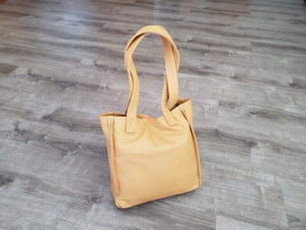 Beige Leather Purse, Everyday Bag, Shoulder Handbag, Annel