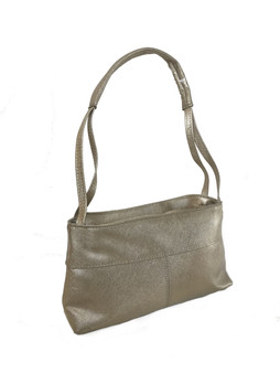 Light Gold Leather Bag, Unique Textured Purse, Trendy Handbag, Ivanna