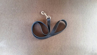 Dog leash - black leather leash