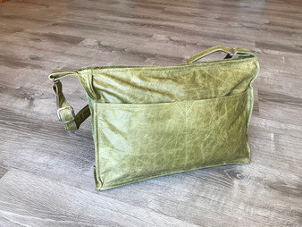 Distressed Leather Crossbody Bag, Carmen