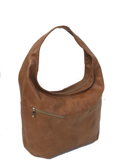 Women Brown Leather Hobo Bag, Casual Fashion Handbags, Aly