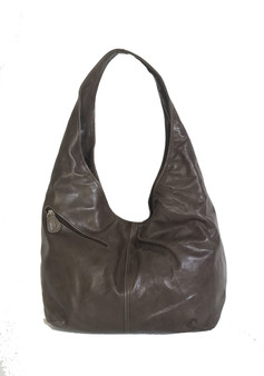 Brown Leather Slouchy Hobo Bag, Trendy Bags for Women, Alicia