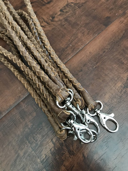 Light Brown Leather Key Holder, Rustic Handmade Key chain Wrist Strap