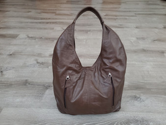 Brown Leather Bag, Casual Hobos, Everyday Leather Purse, Alexa