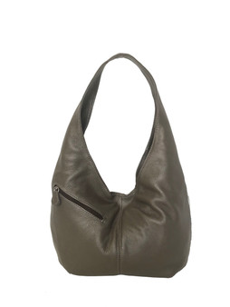 Slouchy Leather Hobo Bag w/ Pockets, Stylish Trendy Bag, Alicia