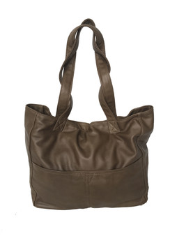 Large Leather Tote Bag w/Pockets, Casual Carryall Purse, Women Handmade Purses,  Jessy
