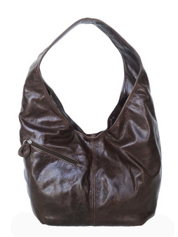 Distressed Brown Leather Hobo Bag for Women, Fashion and Stylish Purse, Alicia