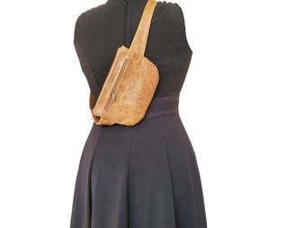 Distressed Leather Belt Bag, Waist Fanny Pack, Hip Bag, Unisex, David