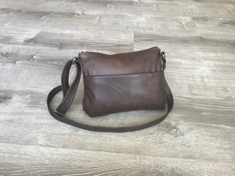 Brown Leather Cross body Bag, Everyday Small Casual Bag, Fashion and Trendy Handbags, Jazmin
