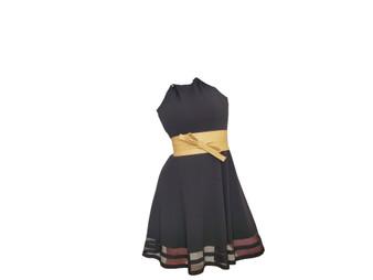 Beige Leather Obi Belt, Wide Fashion Sash Belts, Women  Accessories, Sam