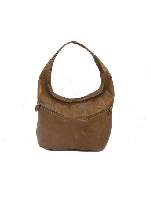 Brown Leather Hobo Bag, Everyday Women Purses, Aly