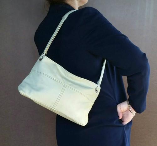 Green Leather Shoulder Purse, Small Shoulder Bag, Ivanna