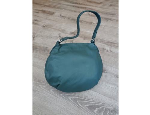 Green Leather Bag, Women Hobo Slouchy Bags, Aida