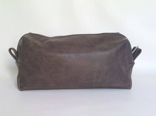 Distressed Brown Leather, Men Toiletry Bag, Travel Bag, Cosmetic Bag