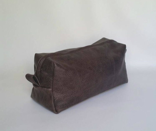Distressed Brown Leather, Men Toiletry Bag, Travel Bag, Cosmetic Bag