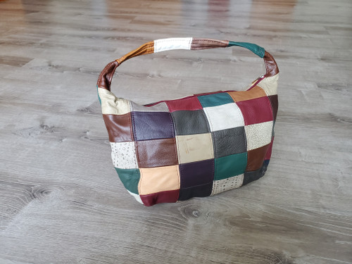 Colorful Shoulder Bag, Rustic Textured Handbag, Rosses