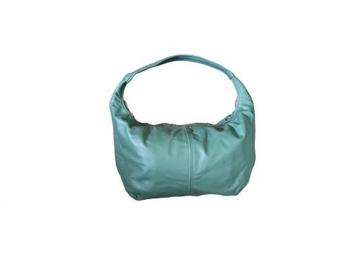 Green Leather Hobo Bag, Fashion Everyday Handbag, Rosses