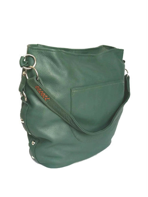 Green Leather Bag, Hobo Purse, Unique Handmade Bags, Sujey