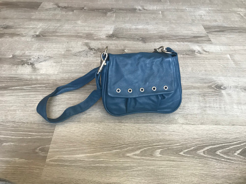 Bright Blue Leather Cross-body Bag, Women handbags,  Teen Bag, Sury