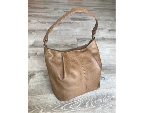 Brown Leather Bag, Everyday Hobo  Handbag, Zuly