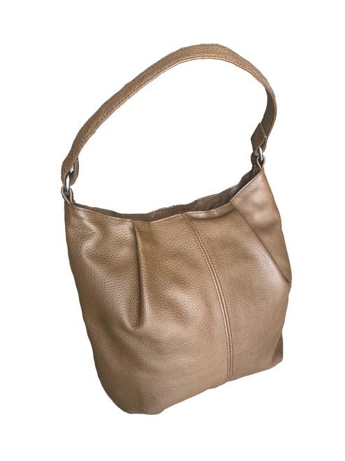 Brown Leather Bag, Everyday Hobo  Handbag, Zuly