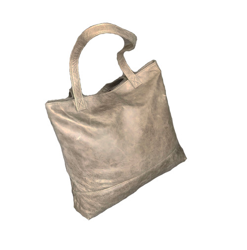 Distressed Leather Tote Bag, Casual Shoulder Purse, Yosy