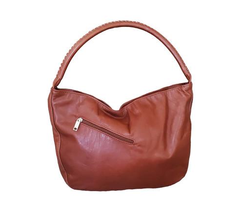 Tan brown hobo bag