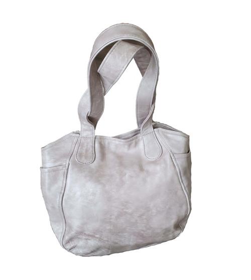 Pink Wash Leather Bag, Original Fashion Handbag, Liliana