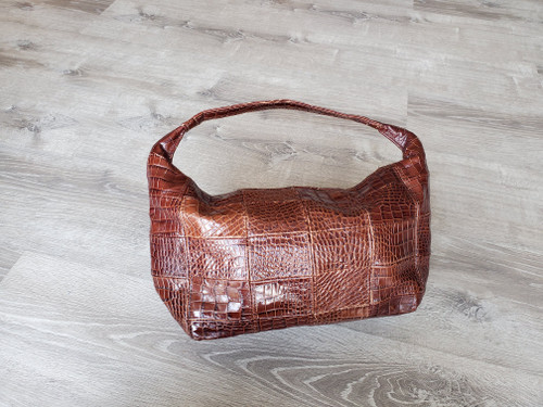 Rustic Brown Leather Hobo Bag with Textured, Casual Bags, Rosses