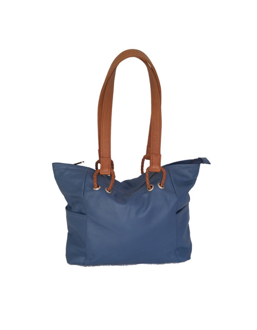 Blue Leather Bag, Women Bags, Casual Handbags, Kenia