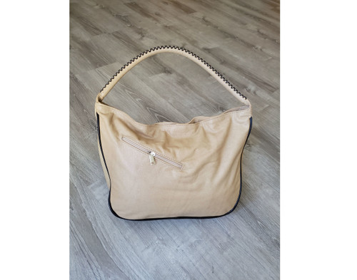 Wash Camel Leather Hobo Bag, Casual Women Handbag, Sofia