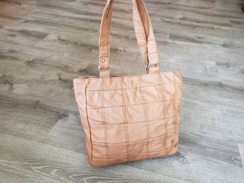 Camel Leather Bag, Everyday Shoulder Handbag, Rustic Retro Tote Laura