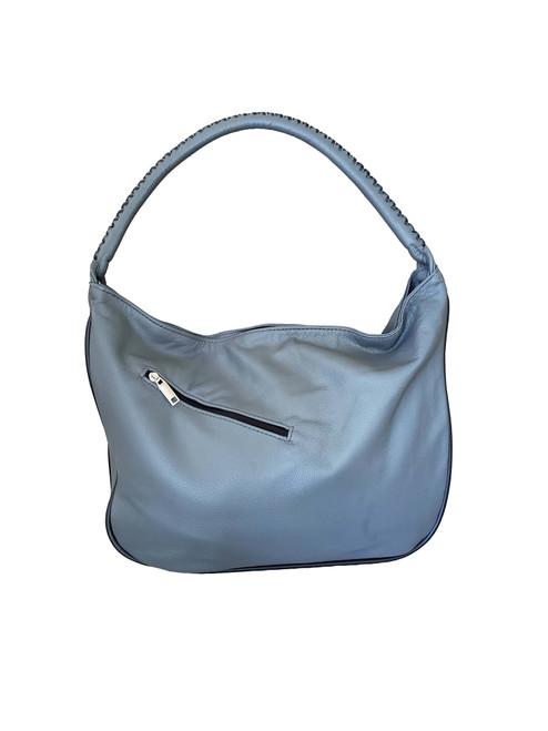 Gray Leather Purse,  Women Bags, Fashion Shoulder Handbag, Sofia