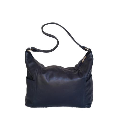 Blue Leather Bag, Hobo Casual Handbag, Everyday Purses, Kenia