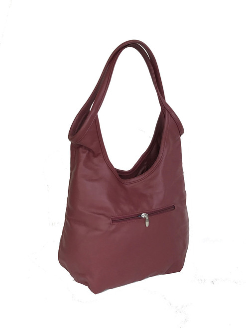 ... Dark red leather bag - boho chic purse - fashion slouchy shoulder  handbag - handmade purses b7d33cffdc116