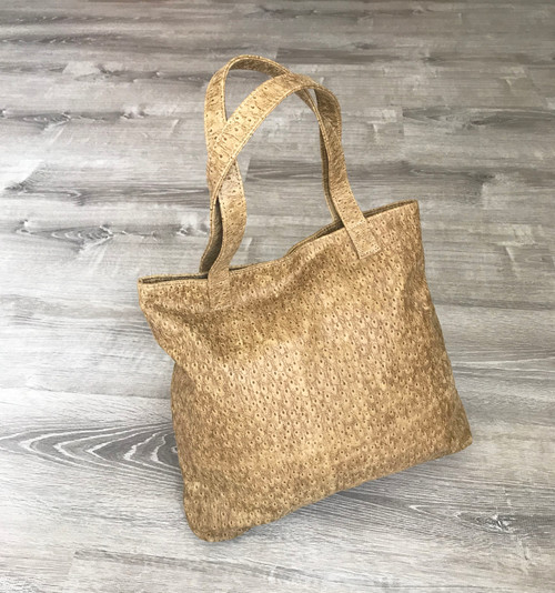 Women's Leather Tote Bag - Original Textured Design Camel Shoulder Purse - Unique Handbag - Handmade Totes yosy