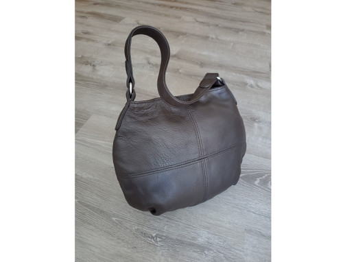 Brown Chocolate Leather Bag, Women Hobo Purse, Aida